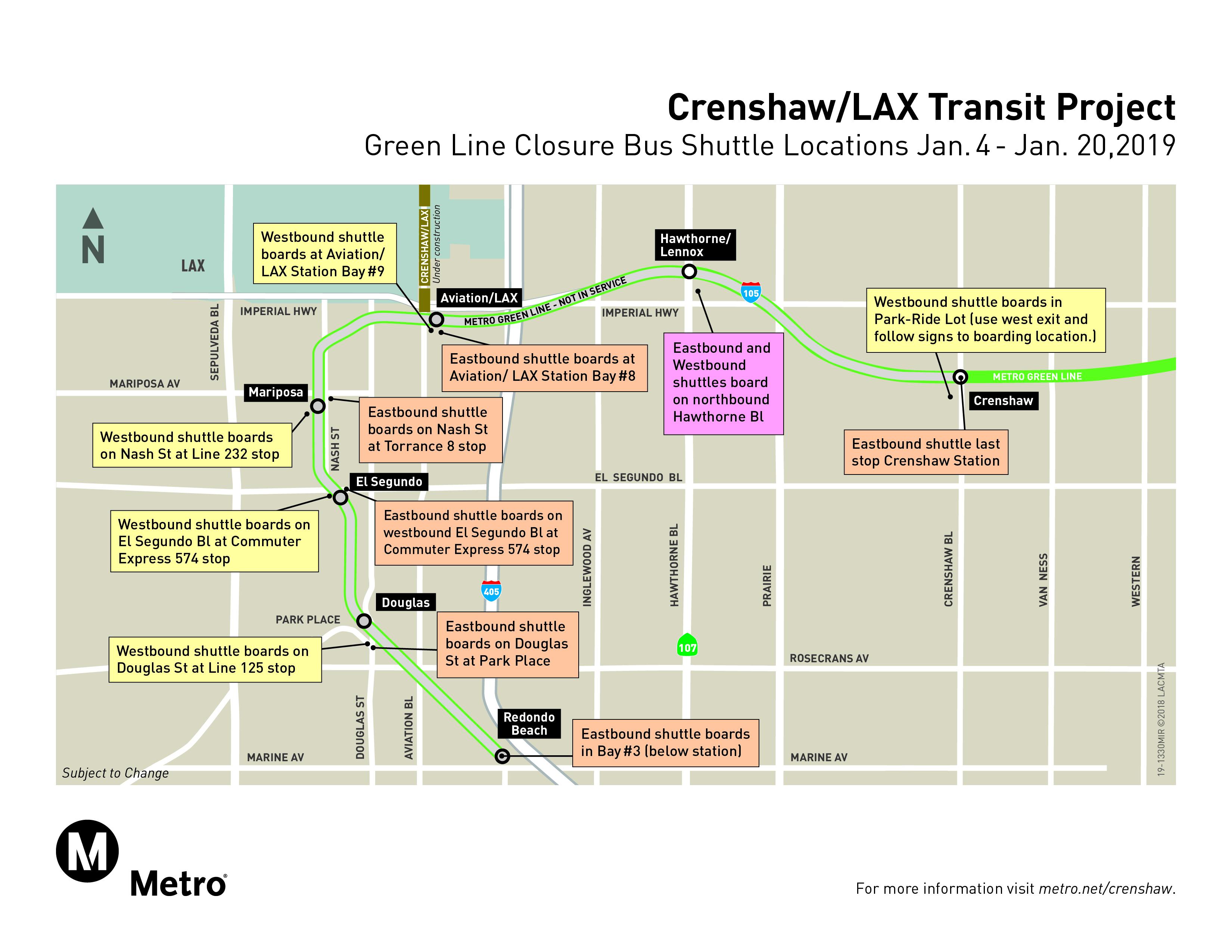 none rider alert temporary green line station closures